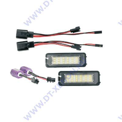 DTX 1080 SEAT Skoda VW 6000K fehér SMD LED-es rendszámtábla világítás szett