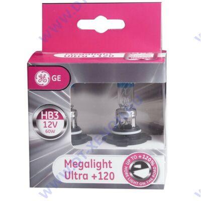 GE-Tungsram Megalight Ultra HB3 / 9005 halogén izzó +120%