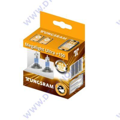 Tungsram Megalight Ultra H4 halogén izzó +150% 50440NXNU