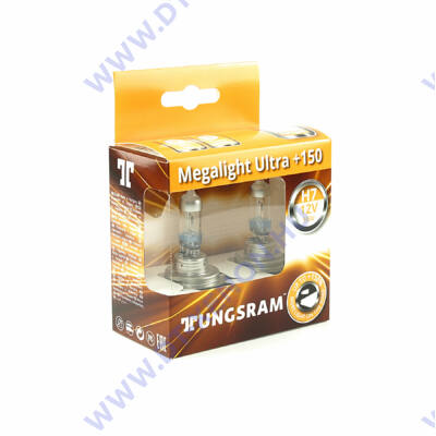 Tungsram Megalight Ultra H7 halogén izzó +150% 58520NXNU