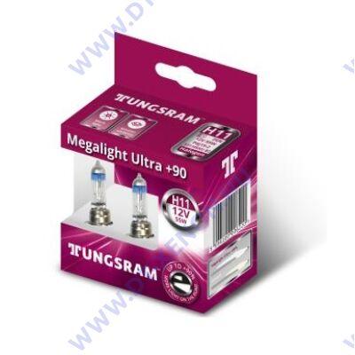 Tungsram H11 Megalight Ultra halogén izzó +90% 53110SXU