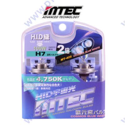 MTEC Cosmos Blue White H7 xenon hatású izzó