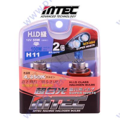 MTEC H11 SuperWhite xenon hatású izzó