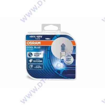 Osram Cool Blue Boost H1 DUO BOX halogén izzó 62150CBB-HCB