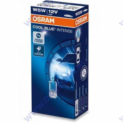 Osram T10 W5W Cool Blue Intense izzó készlet (10db-os)