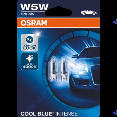 Osram T10 W5W Cool Blue Intense izzó DUO BOX