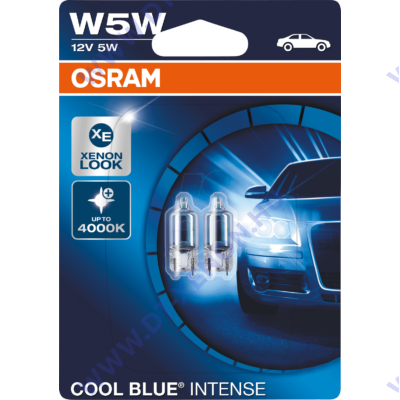 Osram T10 W5W Cool Blue Intense izzó DUO BOX
