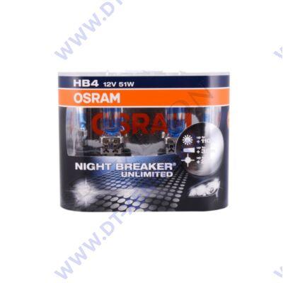 Osram Night Breaker Unlimited HB4 DUO BOX halogén izzó +110%
