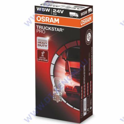 Osram T10 W5W Truckstar Pro 24V halogén izzó 2845TSP (10db-os)