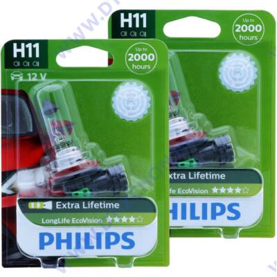 Philips H11 LongLife EcoVision H11 halogén izzó 12362LLECO