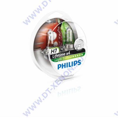 Philips H7 LongLife EcoVision halogén izzó 12972LLECO