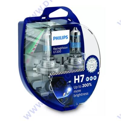 Philips H7 RacingVision GT200 halogén izzó +200% 12972RGTS2