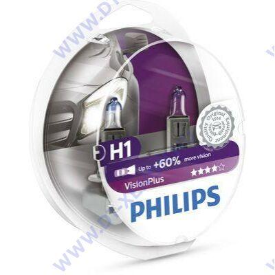 Philips H1 VisionPlus +60% halogén izzó 12258VPS2