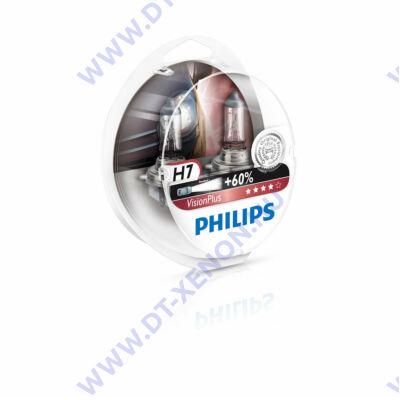 Philips H7 VisionPlus halogén izzó +60% 12972VP