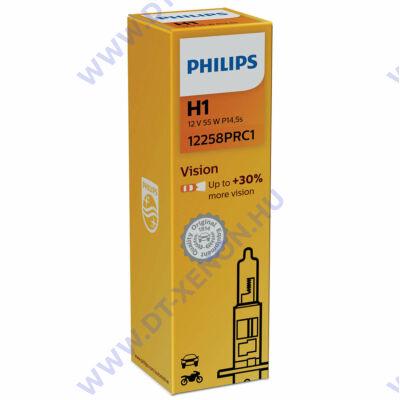 Philips H1 Vision halogén izzó +30% 12258PRC1