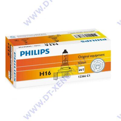 Philips H16 Vision halogén izzó +30% 12366C1