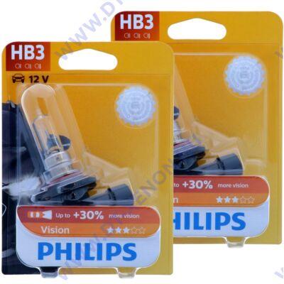 Philips HB3 9005 Vision halogén izzó +30% 9005PRB1