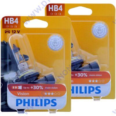 Philips HB4 9006 Vision halogén izzó +30% 9006PRB1