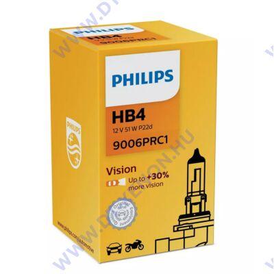 Philips HB4 9006 Vision halogén izzó +30% 9006PRC1