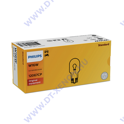Philips Vision T15 W16W halogén izzó +30% 12067CP