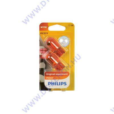 Philips Vision T20 WY21W halogén izzó +30% 12071B2 DUO pack