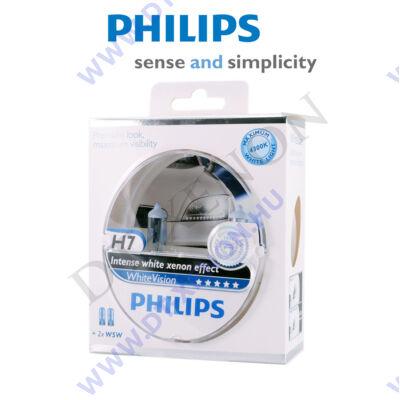 Philips H7 WhiteVision halogén izzó +60% 12972WHVSM