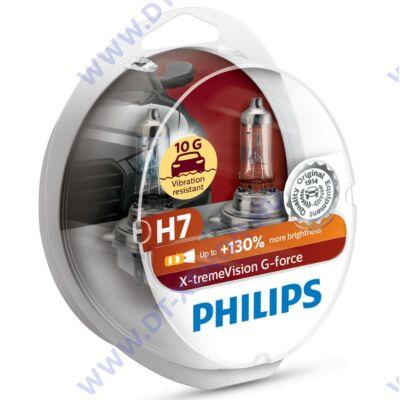 Philips H7 X-tremeVision G-Force halogén izzó +130% 12972XVG