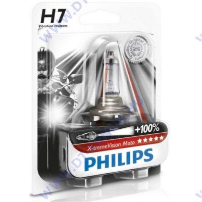 Philips H7 X-tremeVision Moto motorkerékpár halogén izzó +100% 12972XVBW