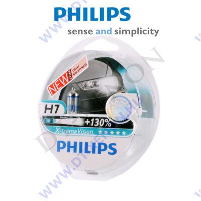 Philips X-tremeVision H7 halogén izzó +130% 12972XV+