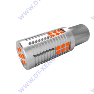 Bajonett (BA15S - P21W) Led 30x3030SMD Epistar (sárga) Can-Bus