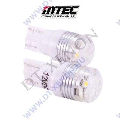 MTEC T10 (W5W) 3SMD LED izzópár 7000K