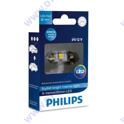 Philips C5W 38mm szofita X-tremeUltinon LED 4000K