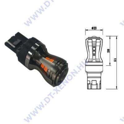 T20 7443 W21/5W 16x2835SMD Epistar LED fehér-sárga