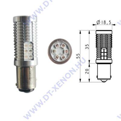 Bajonett (BA15S - P21W) LED 30x3030SMD Epistar (piros)