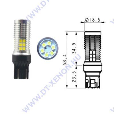 T20 7443 W21/5W LED 30x3030SMD Epistar (piros) Can-Bus