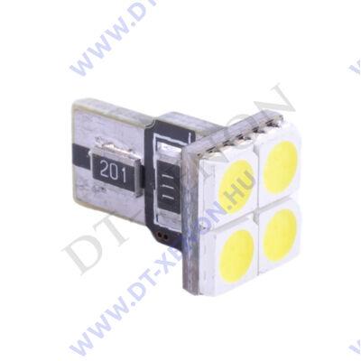 T10 (W5W) LED 4 SMD Can-Bus - előre világító
