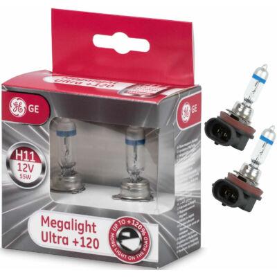 GE-Tungsram H11 Megalight Ultra halogén izzó +120%