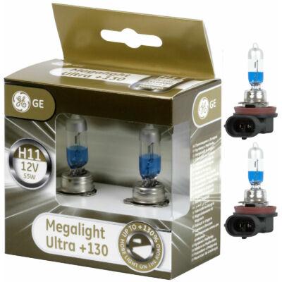 GE-Tungsram H11 Megalight Ultra halogén izzó +130%