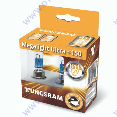 Tungsram Megalight Ultra H11 halogén izzó +150% 53110NXNU