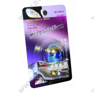 MTEC BA15S S25 P21W 21W SuperWhite Metal Style fehér izzó