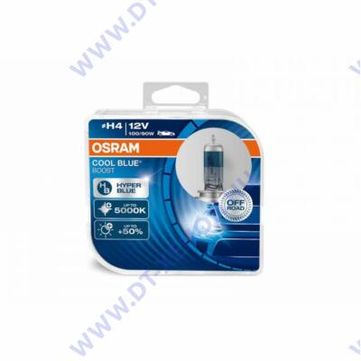 Osram Cool Blue Boost H4 DUO BOX halogén izzó 64193CBB-HCB