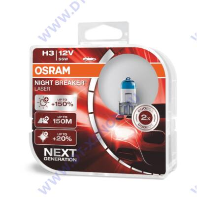 Osram Night Breaker Laser H3 +150% halogén izzó 64151NL-HCB DUO BOX