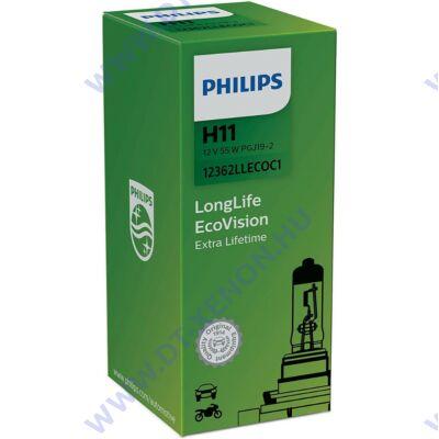Philips H11 LongLife EcoVision H11 halogén izzó 12362LLECO