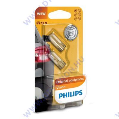Philips T10 W5W Original Vision +30% halogén izzó készlet 12961B2