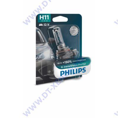 Philips H11 X-tremeVision PRO150 halogén izzó +150% 12362XVPB1