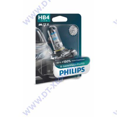 Philips HB4 X-tremeVision PRO150 halogén izzó +150% 9006XVPB1