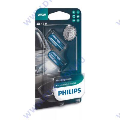 Philips T10 W5W X-tremeVision PRO150 halogén izzó 12961XVPB2