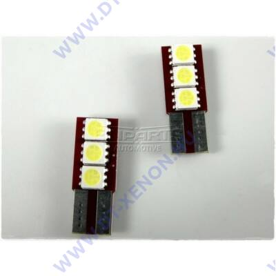 Einparts T10 (W5W) LED 3 SMD Can-Bus - egy oldalra világító EPL36