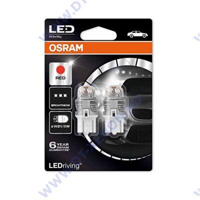 Osram LEDriving Premium W21/5W T20 7443 W3x16q 7915R SMD LED piros