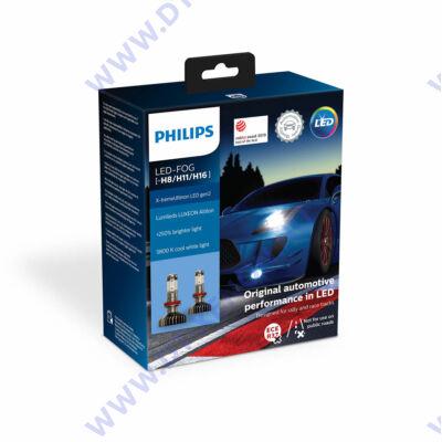 Philips H8 H11 H16 15,5W X-tremeUltinon LED FOG gen2 5800K +250% 11366XUWX2 12V
